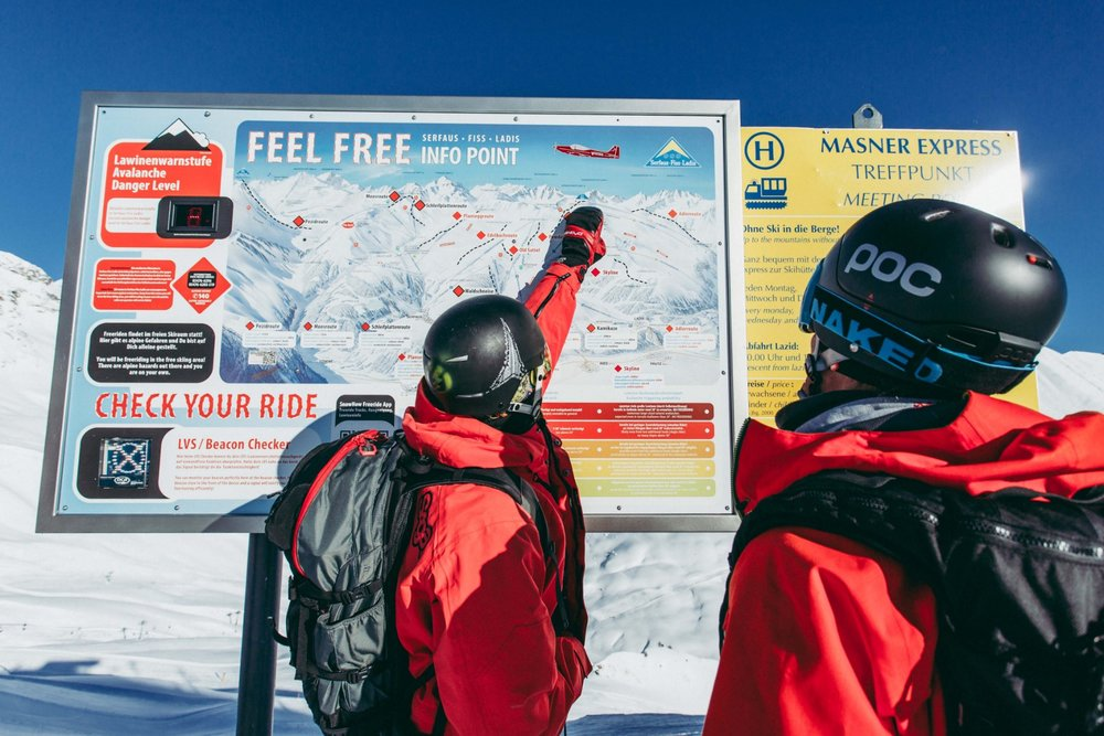 Serfaus-Fiss-Ladis: freeride'owa tablica informacyjna - © Marco Freudenreich