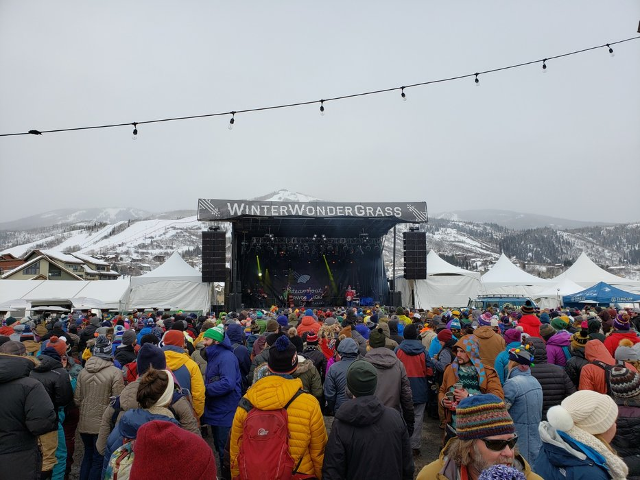 WinterWonderGrass doors open at 1:45 p.m., so you can get after the slopes of Steamboat, Stratton and Squaw before relaxing into an afternoon/evening of boot stomping, fingerpicking action at the base. - © Eric Schmidt