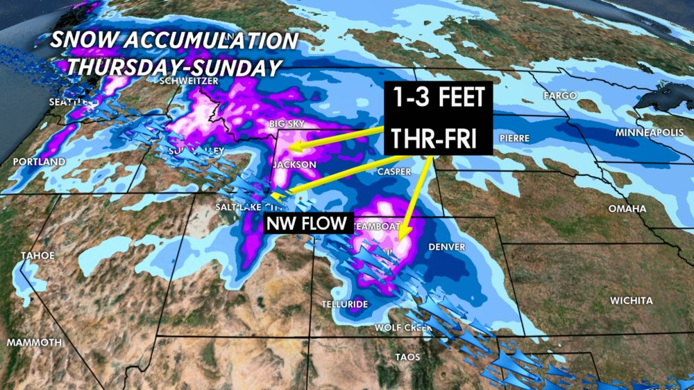 Powerful jet stream delivers heavy snow intermountain west - © Meteorologist Chris Tomer
