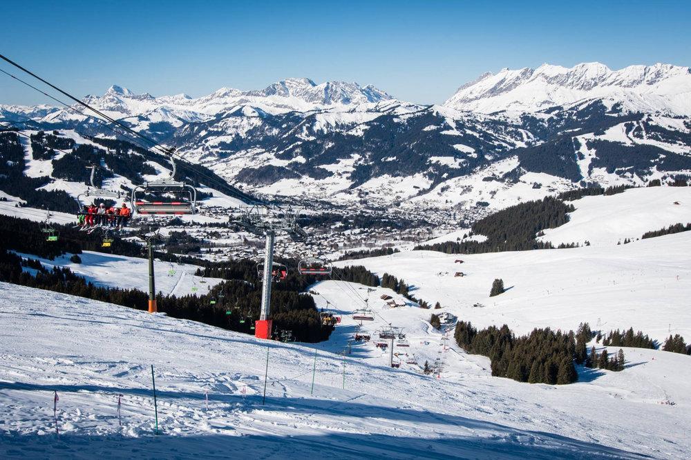Vue sur Saint Gervais depuis ses pistes de ski - © Facebook Saint-Gervais Mont-Blanc