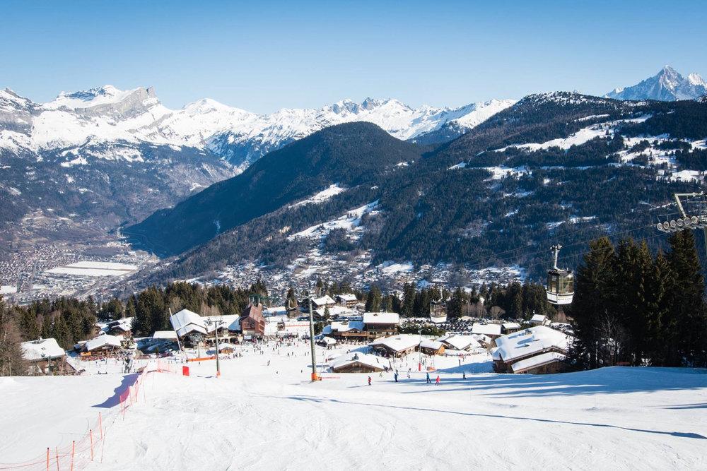 Conditions idéales (neige fraiche et soleil) pour une belle journée de ski à Saint-Gervais - © Facebook Saint-Gervais Mont-Blanc