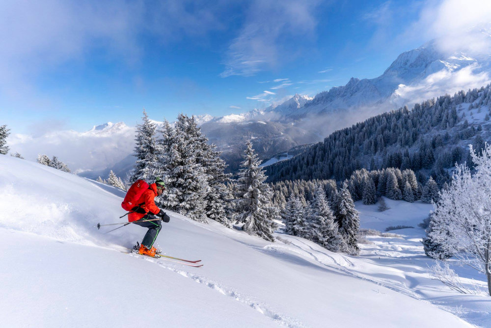 Session hors-piste sur les pentes enneigées de Saint-Gervais - © Facebook Saint-Gervais Mont-Blanc