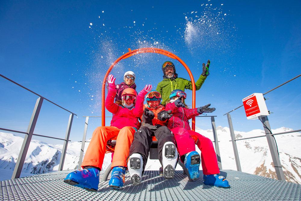 Souvenir des vacances au ski en famille à Valmorel - © Office de Tourisme de Valmorel