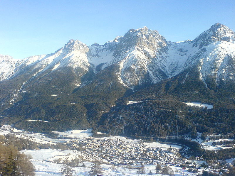 The scenic Swiss village of Scuol.
