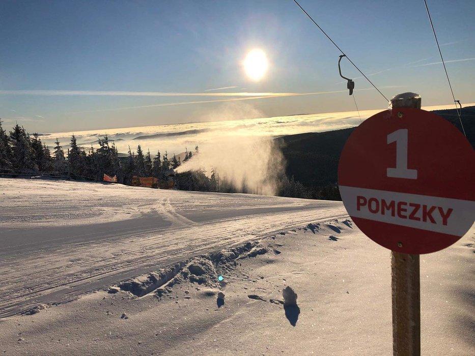 Skvelé lyžiarske podmienky na Pomezkách v Malej Úpe - © facebook | SkiMU MaláÚpa