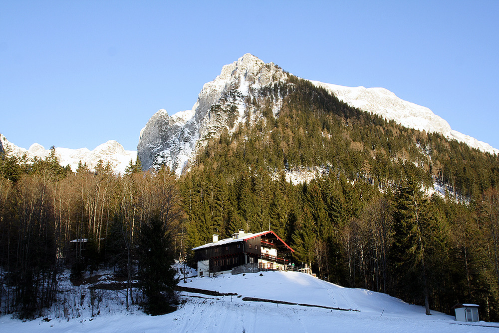 Lodge on the hills at Berchtesgadener Land, Germany