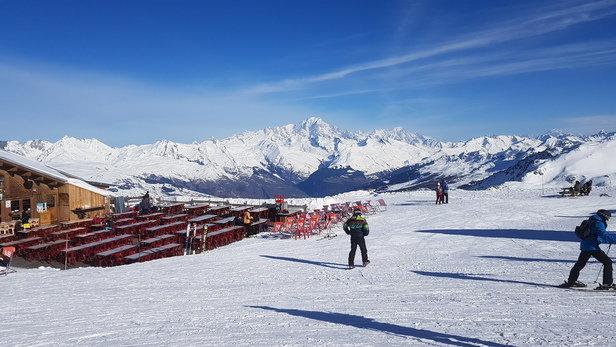 La Plagne - Le Mont Blanc depuis Roche de Mio. Calme avant l'arriv - © Edgar P