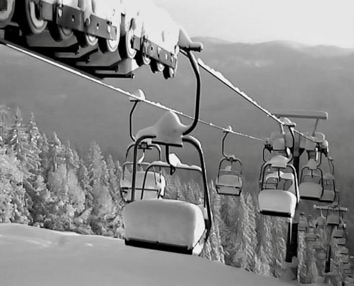Na lanovky sedá sníh (foto Ski Park Gruň) - © facebook | Ski Park Gruň