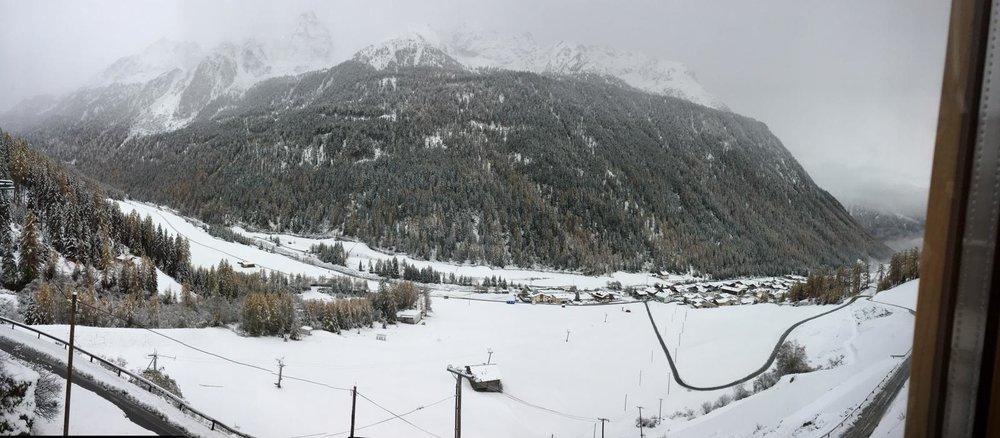 Ordentlich Schnee auch schon im Ötztal