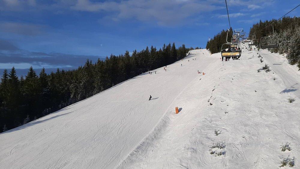 Skiareál Špindlerův Mlýn 15.1.2020 - © facebook | facebook | Skiareál Špindlerův Mlýn