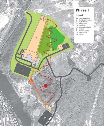 The first phase of Fairfax Peak indoor ski slopes in Virgina