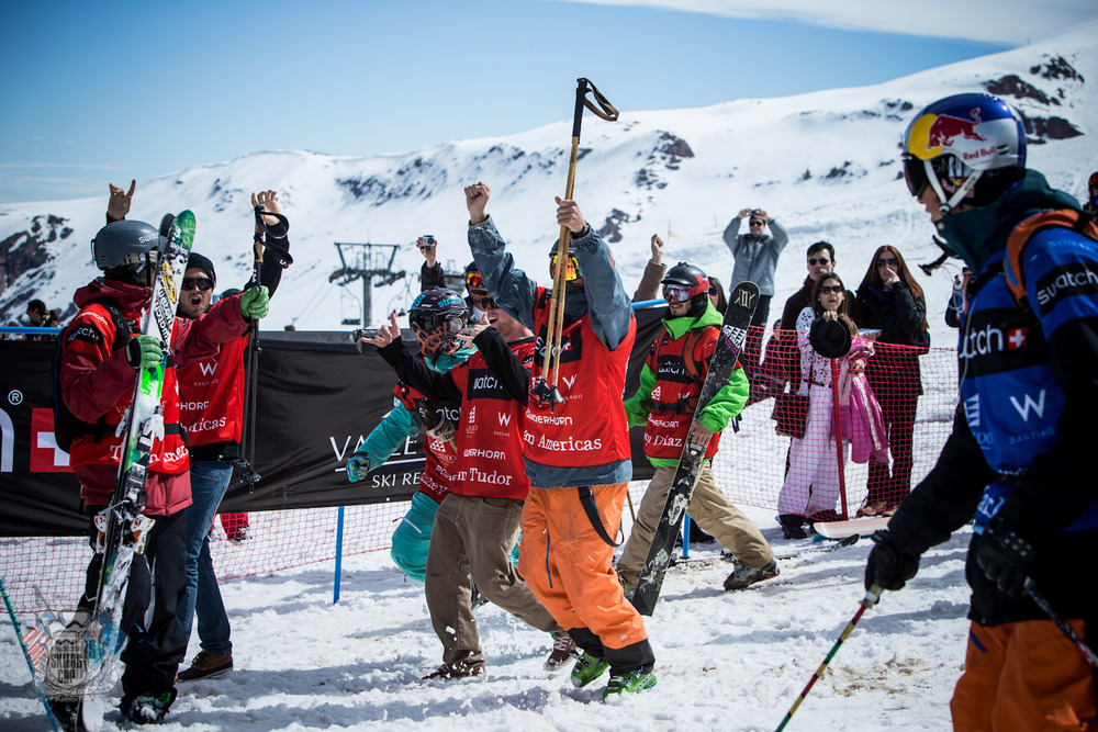 Team Americas celebrating their victory - © Swatch Skiers Cup