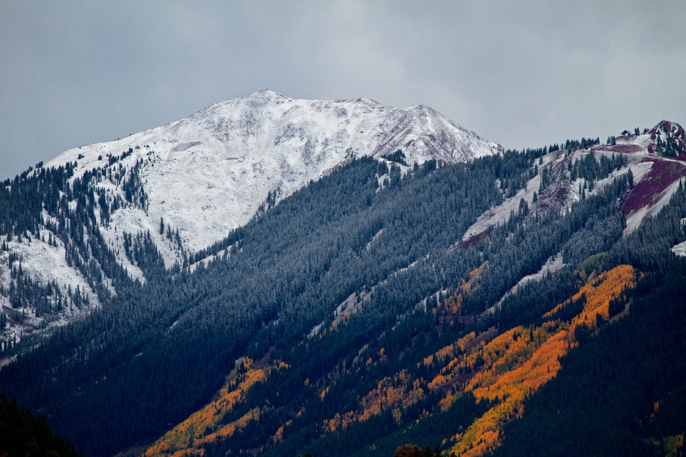 Early snow at Aspen - © David Amirault