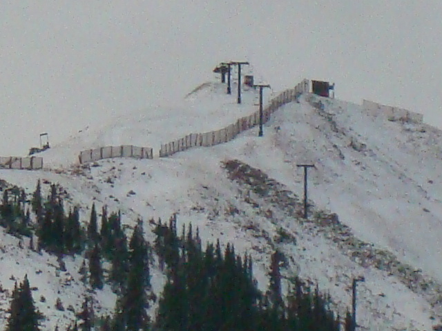 Snow on the ridge line at A-Basin. - © Arapahoe Basin
