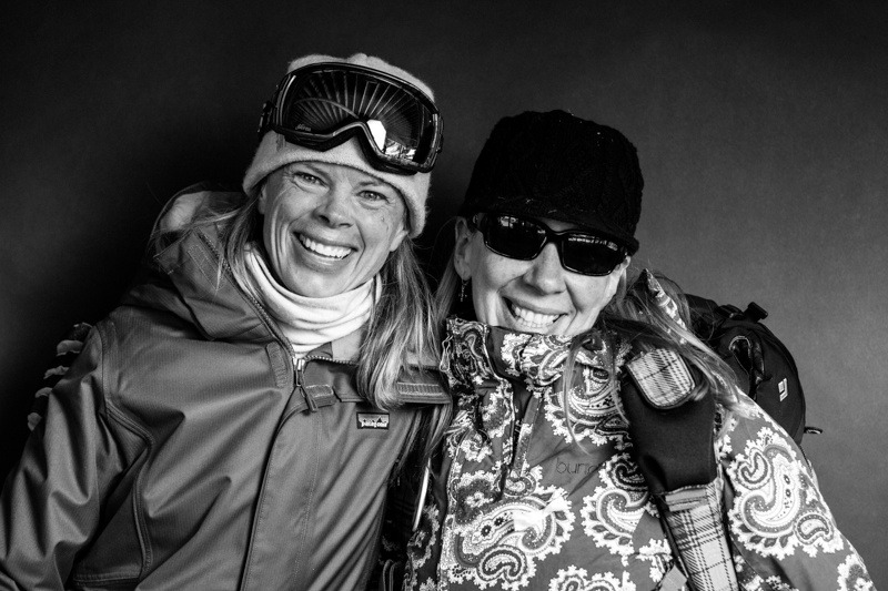 Laura Rosetter and Holly Resignolo / Arapahoe Basin Opening Day 2012 - © Liam Doran