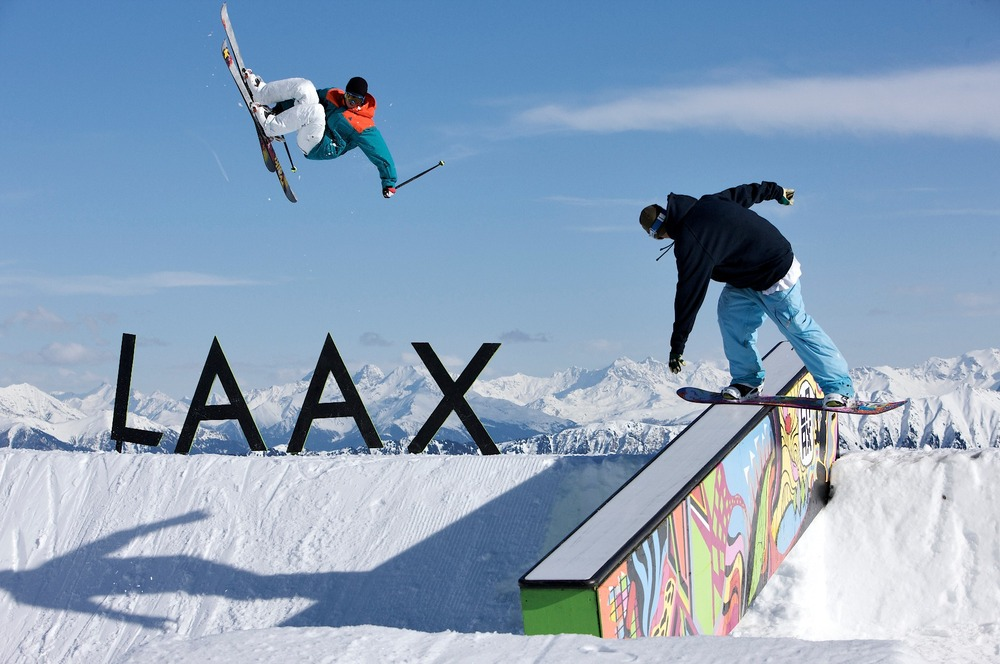 Freestylers in Laax - © Graubunden