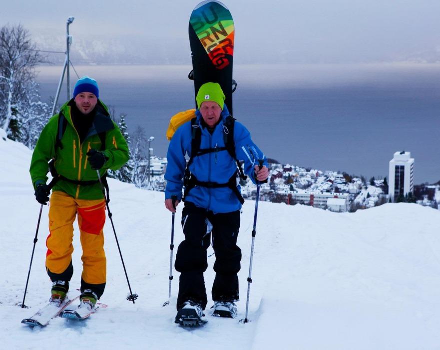 Oktoberpudderåpning 2012: Pål Erik Pedersen og Sture Pettersen i Narvik - © Jan-Arne Pettersen