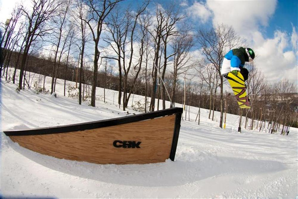 Fly high in the Cambelback Terrain Parks. Photo Courtesy of Camelback Mountain Resort.