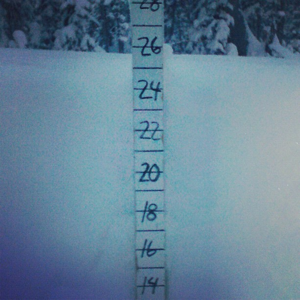 Snow totals in the 20's at Brighton from Winter Storm Brutus. Photo: Brighton/Facebook