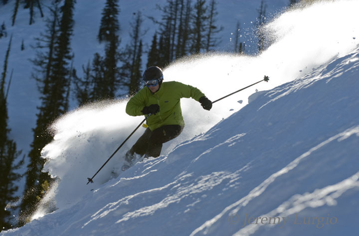 A skier in powder at Discovery Basin, Montana. Photo courtesy of Discovery Ski Area. - © Jeremy Lurgio/Discovery Basin