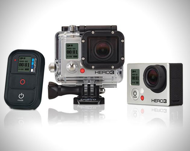GoPro Hero3: Black Edition—The Hero3 Black Edition is GoPro's latest high-end camera. Featuring 4k resolution, it allows videographers to capture stunning images in rich detail. Tack on 1080p HD at 60 fps and a 12 megapixel camera and this is the only tool you'll need to shoot amazing video or photos on the mountain. The body itself is lighter and thinner than its predecessor and is WiFi compatible and will work with your smartphone. $399 - © GoPro