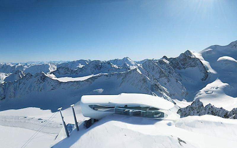 Die Wildspitzbahn am Pitztaler Gletscher