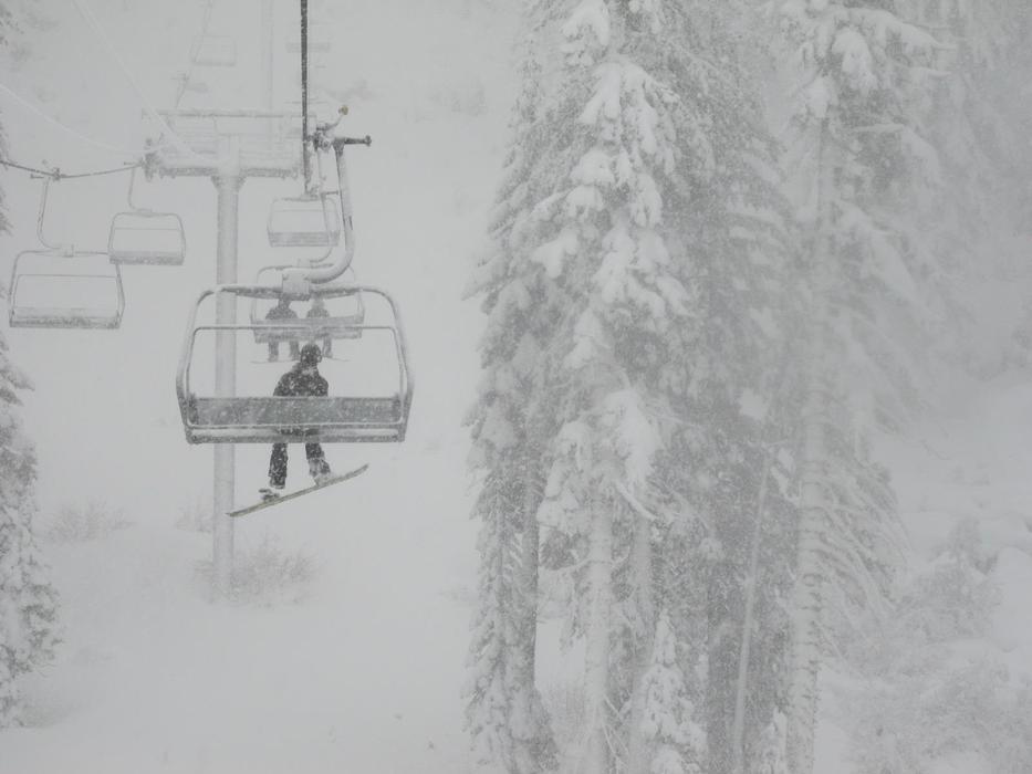 It's puking at Sierra-at-Tahoe. - © Sierra-at-Tahoe
