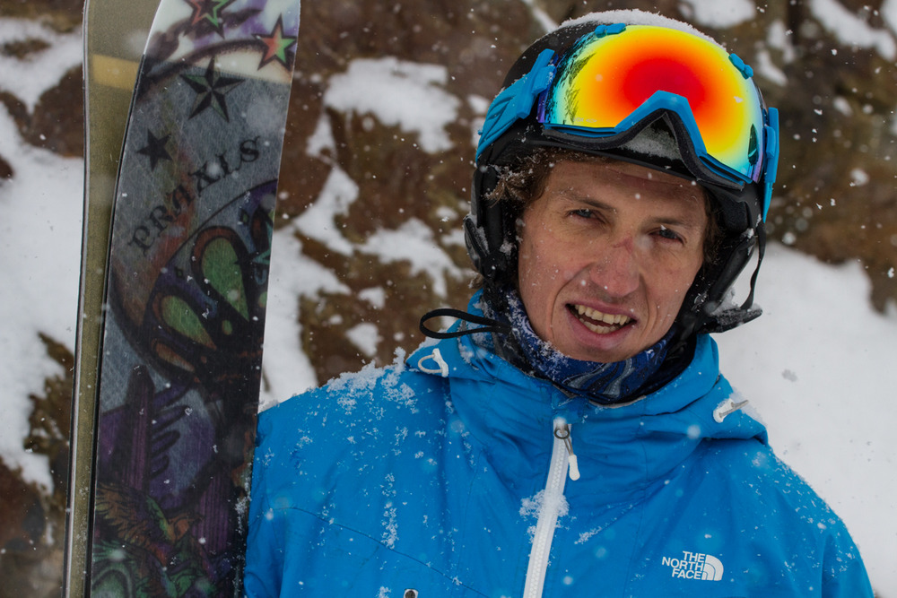 Pro skier Drew Tabke was on hand to show us his favorite stashes at Crystal - ©Liam Doran