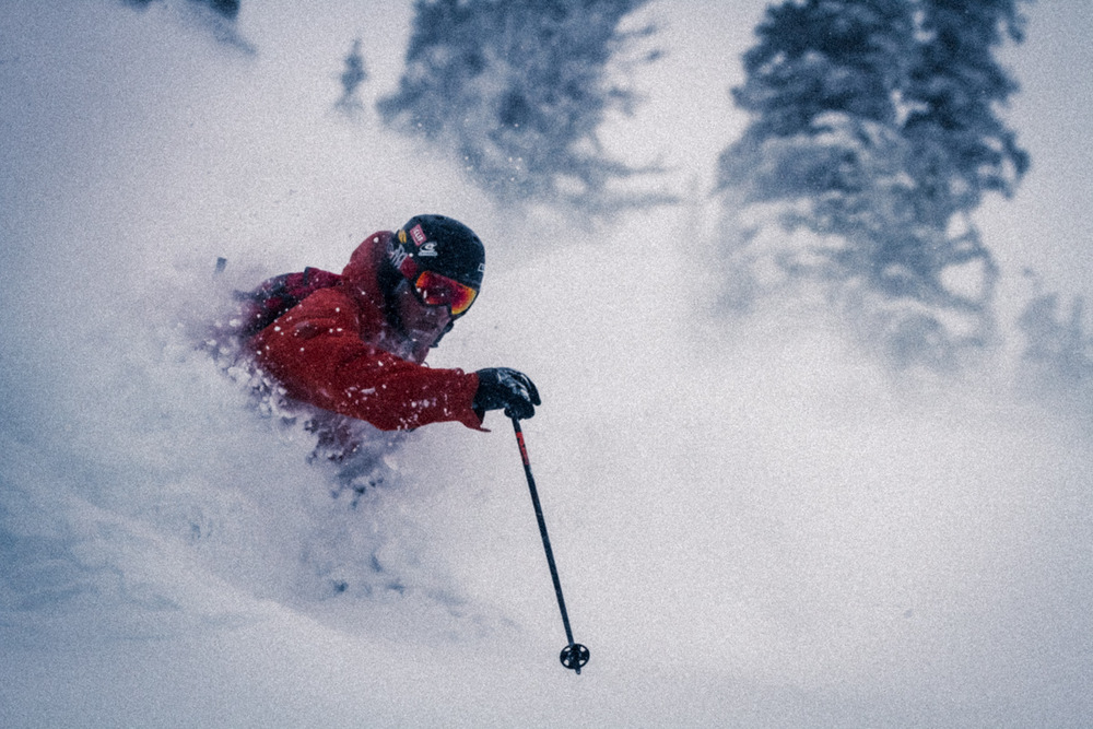 Skier Wayne Grevey showed us around Crystal and took us to the goods - © Liam Doran