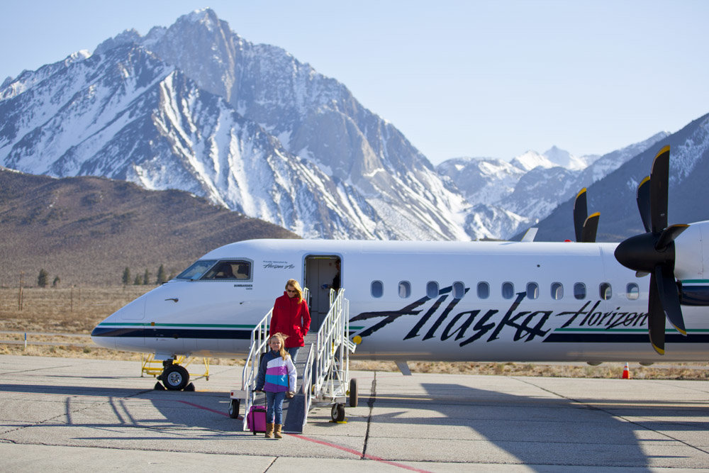 The Alaska Airlines' LAX-Mammoth Snow Pack offers an easy and affordable way to get to Mammoth all season long.  - © Mammoth Mountain