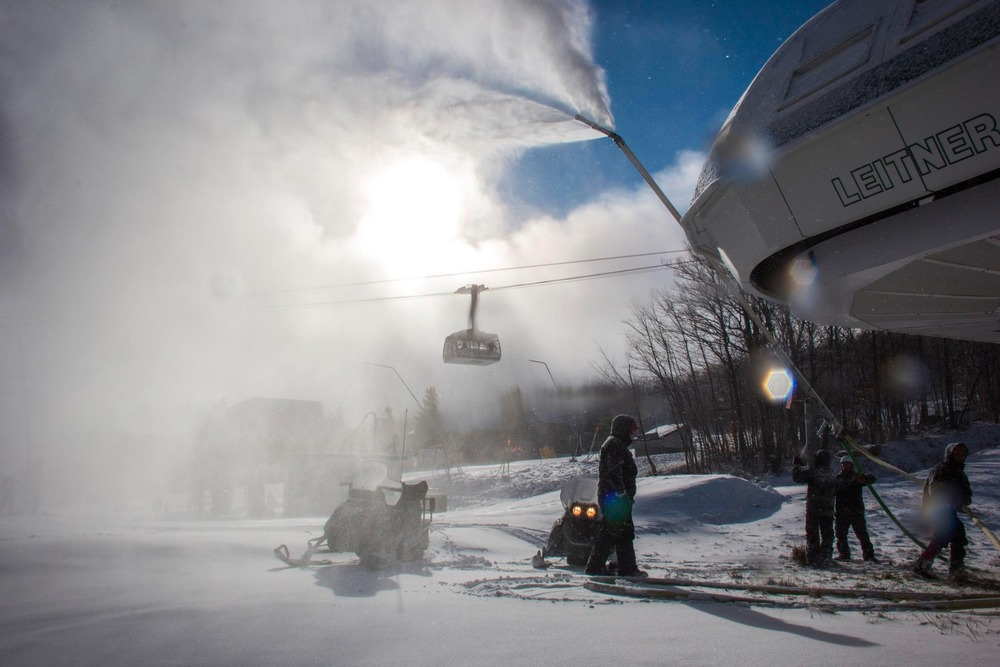 Jay Peak, along with many other resorts across the Northeast, will fire up their snowmaking systems once again as cold air makes a return to the region. - © Jay Peak Resort