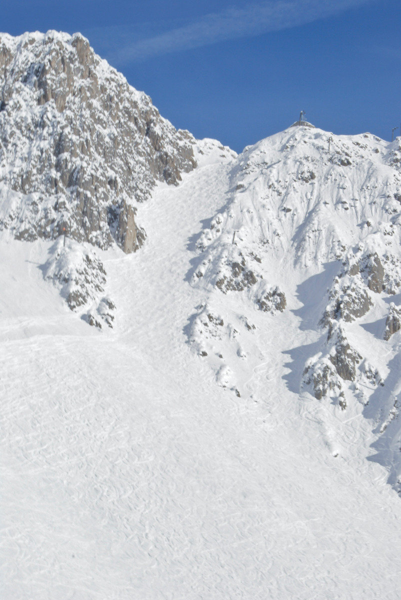 Die berühmte Skiroute 6: Hafelekarrinne - © Gernot Schweigkofler