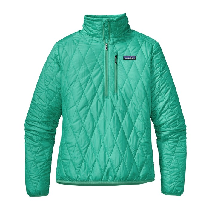 Patagonia Nano Puff Pullover - This is not your grandmother's pullover (though she probably wishes she had one). Patagonia's down sweaters have been hot over the past two years, so they've continued the theme with an uber-lightweight and compressible line for 2013. The sleek Nano Puff Pullover is made from synthetic PrimaLoft One insulation and 100 percent recycled polyester ripstop shell with a DWR finish, making it weather-resistant and windproof as well as durable. It all stuffs into a zippered chest pocket with a tiny karabiner clip-in loop. $169.