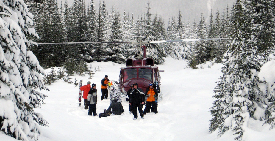 Panorama Mountain Village, BC: RK Heliski chopper. Photo courtesy of Panorama Mountain Village.