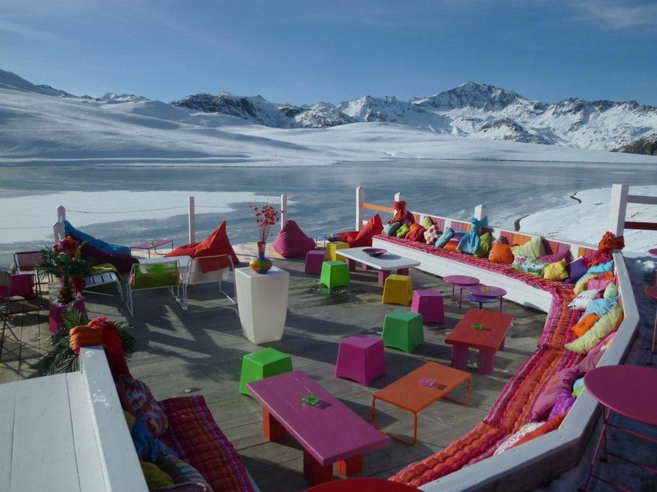 Bar de l'Ouillette in Val d'Isère: lekker buiten zitten