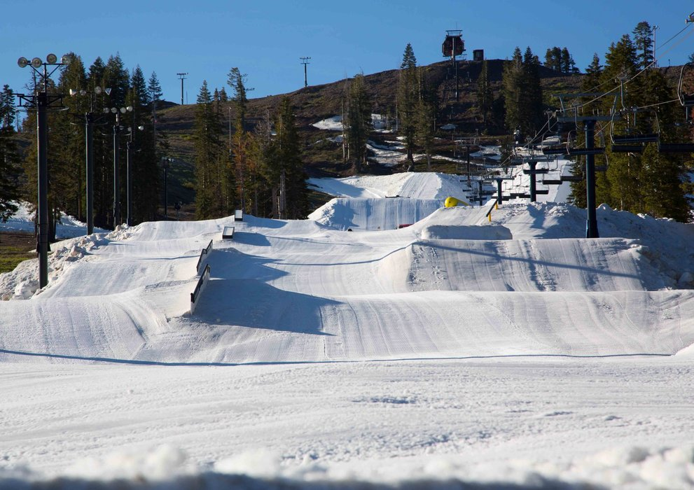 Woodward Tahoe summer camps have a private park accessed by a high speed quad, a full jump line, jib galore and half pipe! - © Woodward Tahoe
