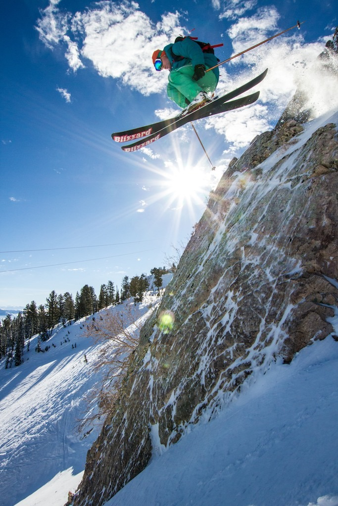 Ben Wheeler getting some air at Snowbasin. - © Liam Doran