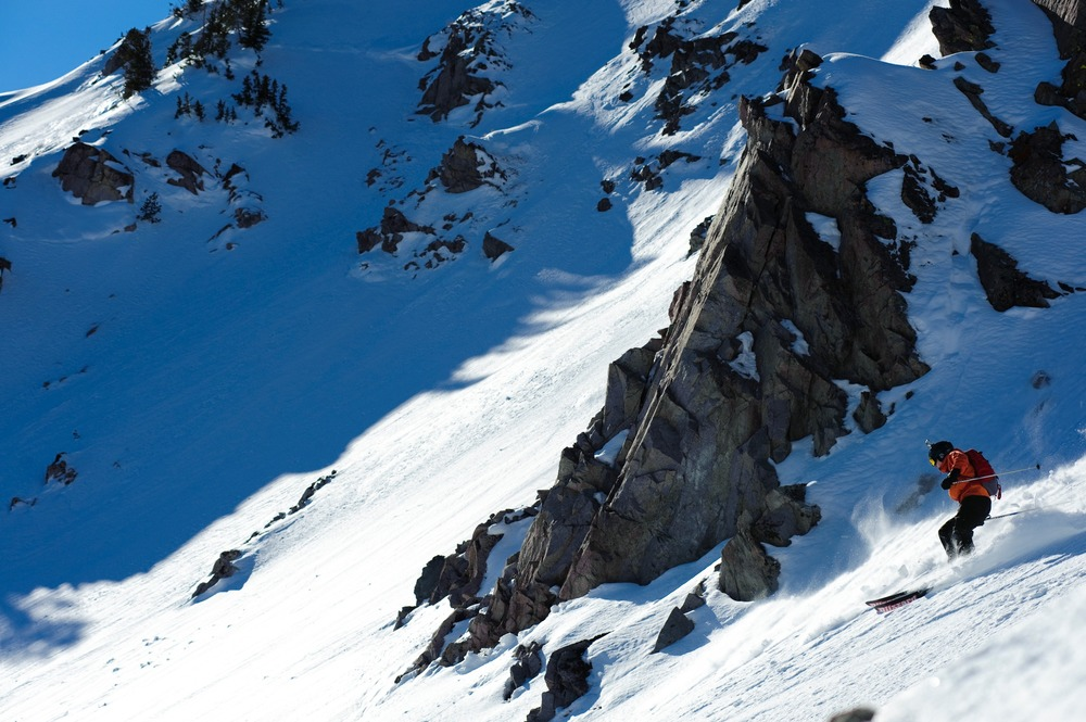 Editor Dan Kasper gets the goods with Sun Valley Heli-Ski Guides. - © Tal Roberts