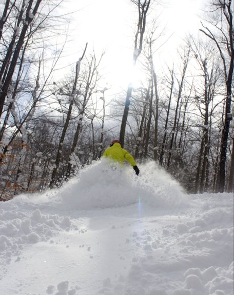 Powder day at Peek 'n Peak in New York. - © Peek'n Peak Resort