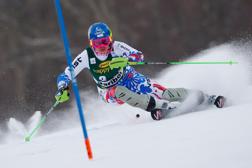 Veronika Velez-Zuzulova bleibt im Slalom eine der ganz heißen Medaillenkandidatinnen - © Stanko GRUDEN/AGENCE ZOOM