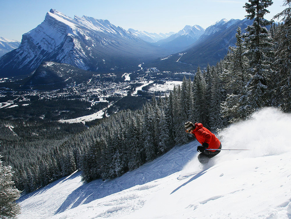 Mt. Norquay is adjacent to the historic town of Banff. - © Mt. Norquay