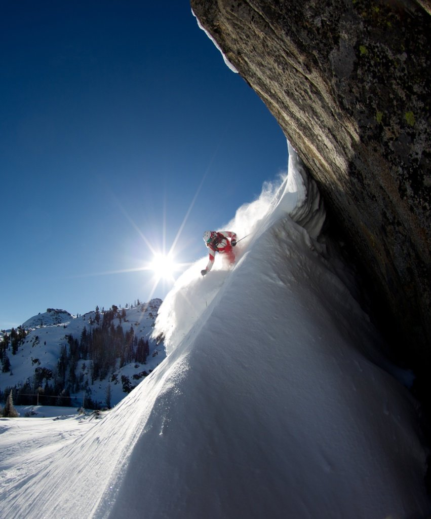 Perfect moment for Amie Engebretsen i Squaw Valley - © Jeff Engerbretson