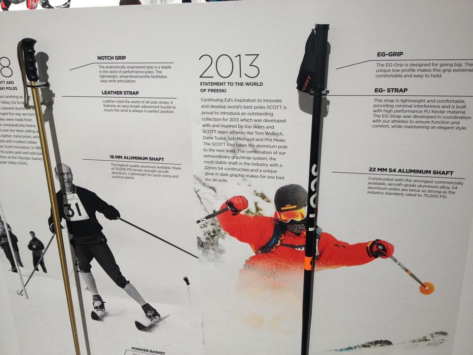 Den klassiske store fede freeride alu stav er scotts varemærke. OG den holder - © Jeppe Hansen / Skiinfo.dk
