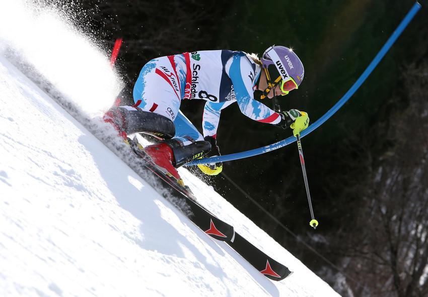 Michi Kirchgasser blieb nach starkem Slalom der undankbare vierte Rang - © Alexis Boichard/AGENCE ZOOM