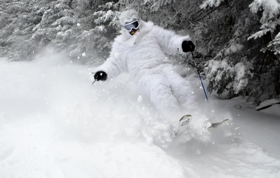 The yeti was out to get the goods at Okemo. - © Okemo/Facebook