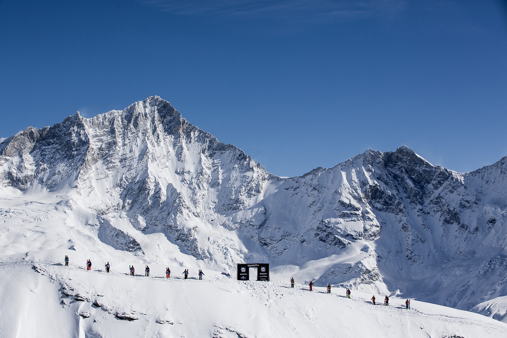 The competitors at the Swatch Skiers Cup from Zermatt. - © J.Bernard/swatchskierscup.com