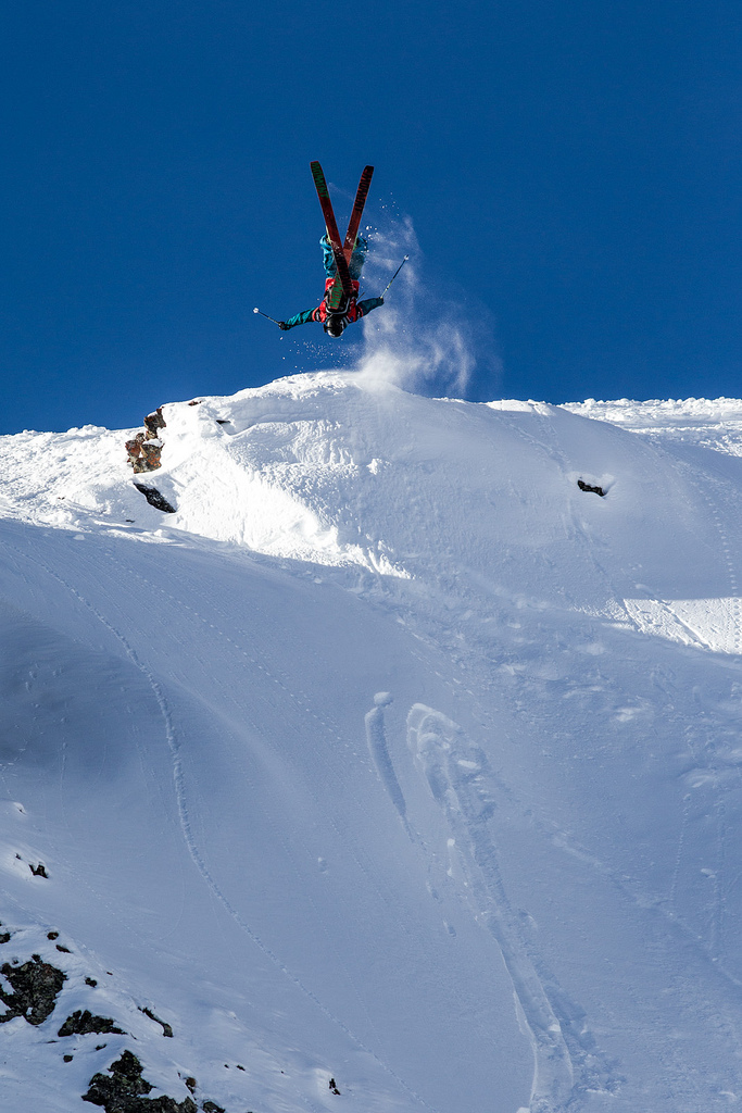 KC Deane throwing down at the Swatch Skiers Cup. - © J.Bernard/swatchskierscup.com