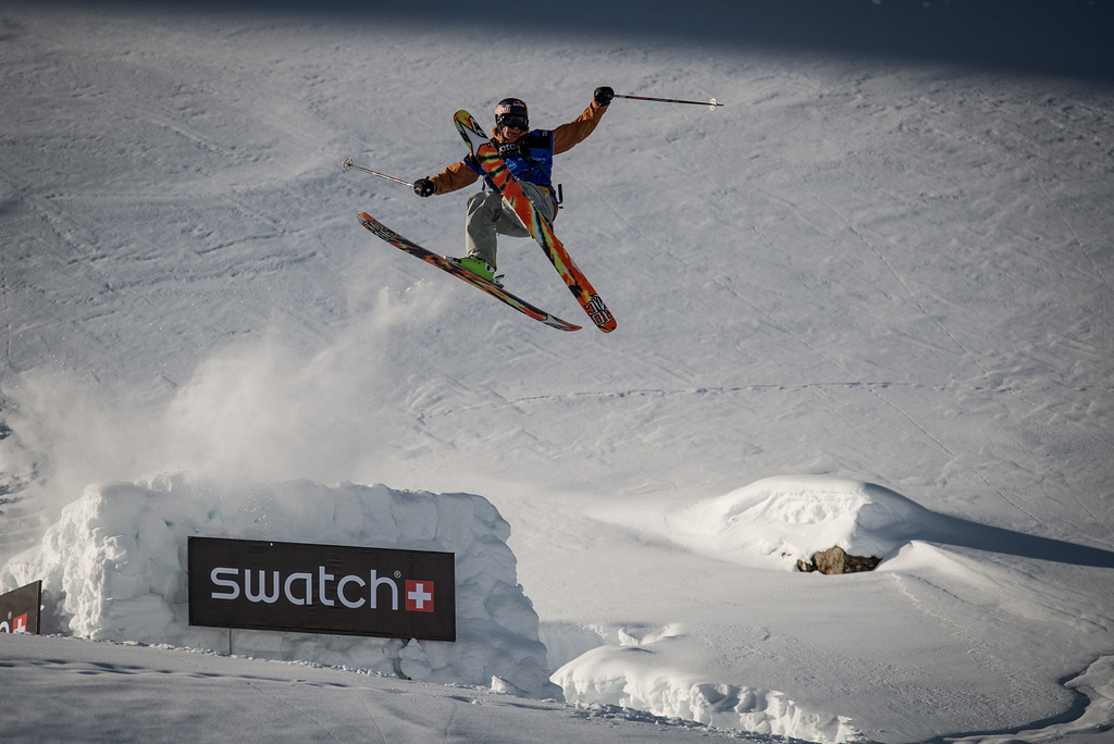 Richard Permin takes off at the Swatch Skiers Cup. - © D.Carlier/swatchskierscup.com