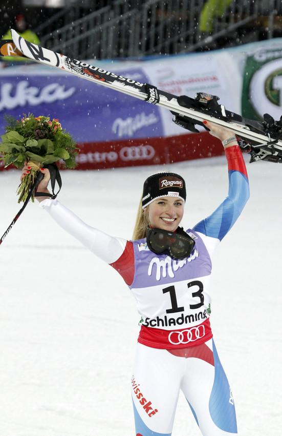 Silber für Lara Gut: Sie brachte die Schweiz in den Medaillenspiegel - © Hook Baderz/AGENCE ZOOM