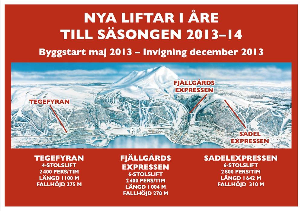Tre nya stolliftar i Åre till säsongen 13/14 - © SkiStar AB